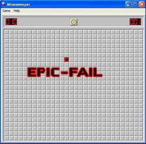 Image result for Minesweeper lose on first click