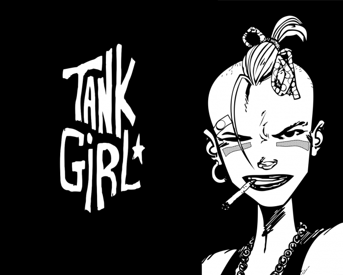 tank girl wallpaper by daskai 700x560 Tank Girl Wallpaper Comic Books