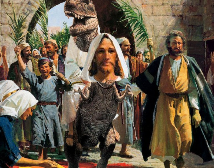raptor christ on a jesus 700x549 Raptor Christ on a Jesus wtf Religion Humor