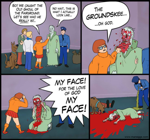scoobydooripface The Goundskeeper web comics Dark Humor