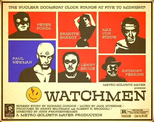 watchmen oldschool poster Retro movie posters Movie posters Comic Books