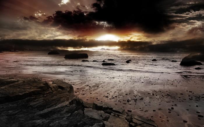 Atomicsunset 700x437 Atomic Sunset Wallpaper Nature