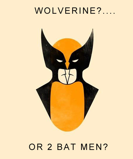 WolverineBatmans Batmans or Wolverine? wolverine Visual Tricks Humor batman