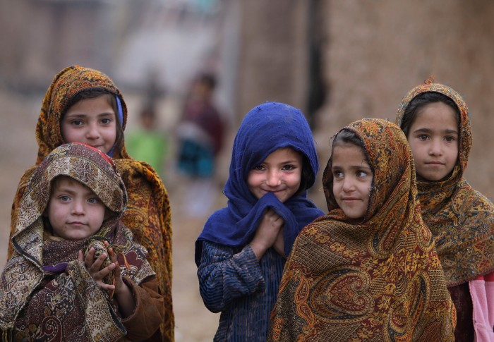 Afghan refugee girls