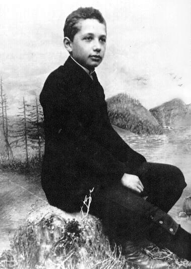 Albert Einstein as a 14yo boy Einstein