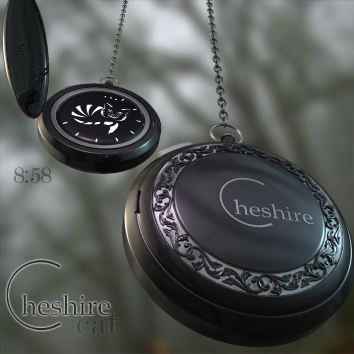 cheshire cat pocket watch design 1 700x700 Chesire Cat Pocket Watch