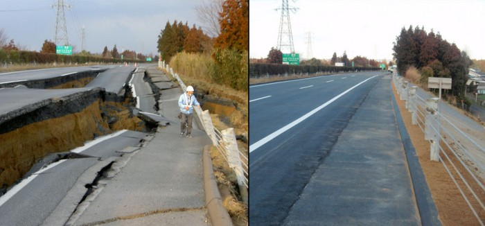 s j10 32306724 700x326 Japanese road fixed in six days