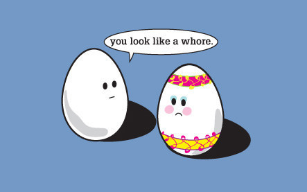 EpXRI Easter egg whore Religion Humor Holiday Easter