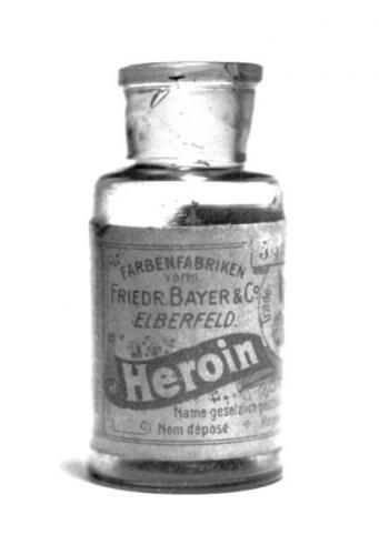 409px Bayer Heroin bottle.thumbnail 19th century Bayer Heroin bottle 420