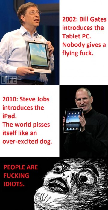 MS Invented The Tablet 361x700 Microsoft Invented the iPad Humor Computers