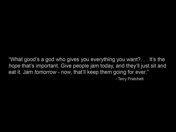 terry pratchett on hope 700x525 Hope Wallpaper terry pratchett Quotes
