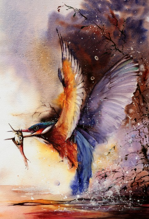 0 46dab b7650925 orig 477x700 Watercolor bird