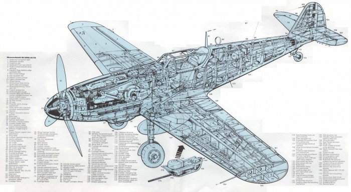 109cutaway 700x384 cut up planes Wallpaper Military airplanes