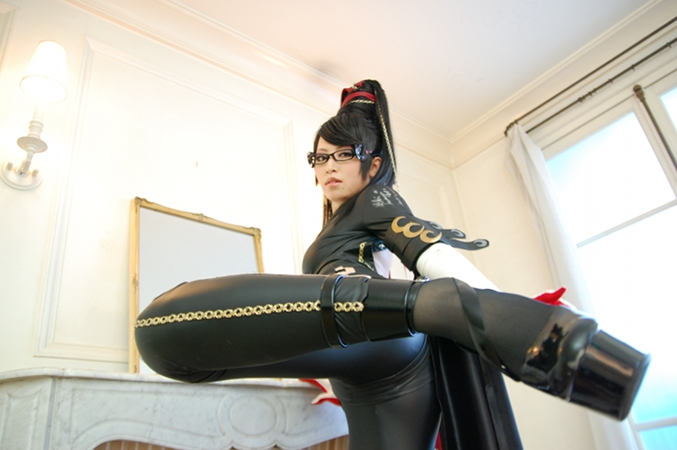 0652 hot legs Sexy NeSFW Gaming cosplay bayonetta