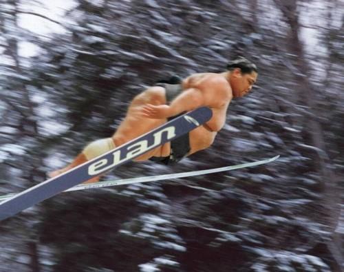 sumo ski jump 500x395 sumo ski jump wtf Sports fat shaming