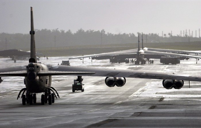 B-52s on runway