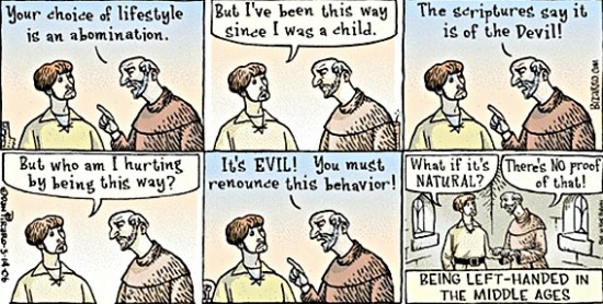 dniVC Being left handed in The Middle Ages Politics Humor
