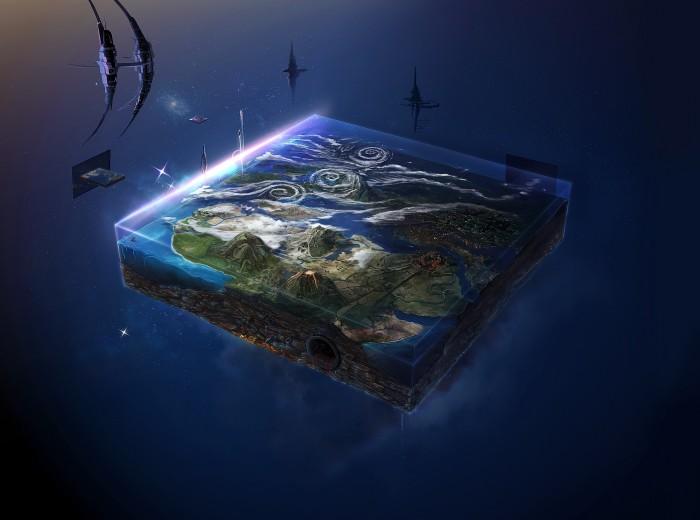 o265098 700x520 flat Earth Wallpaper Fantasy   Science Fiction