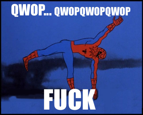 qwop QWOP   Try it, I dare you spider man Humor Forum Fodder