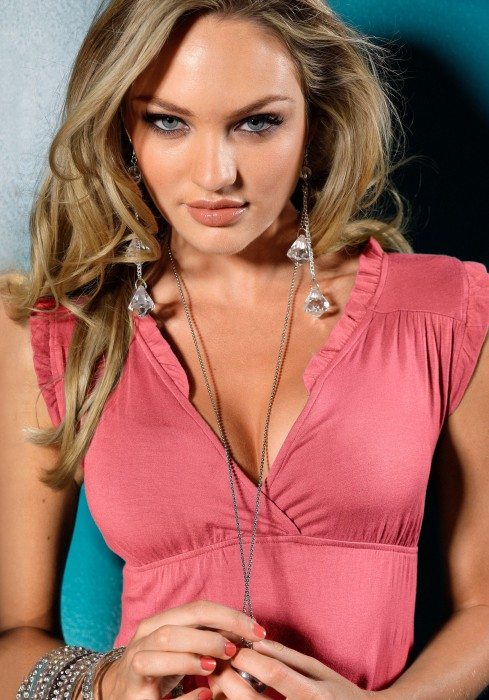 Candice Swanepoel in Victorias Secret Photoshoot 10 489x700 pink shirt Sexy Candice Swanepoel