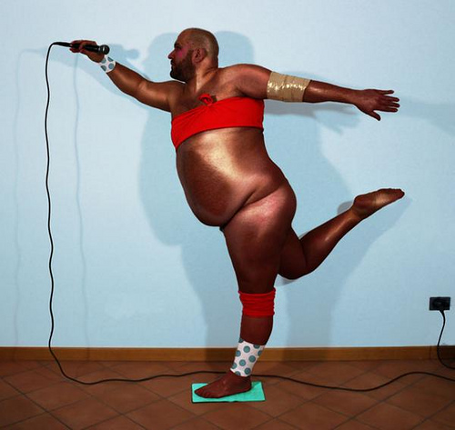 disco Publicity shots for Grace Jones comeback album havent come out as quite expected wtf NeSFW fat shaming
