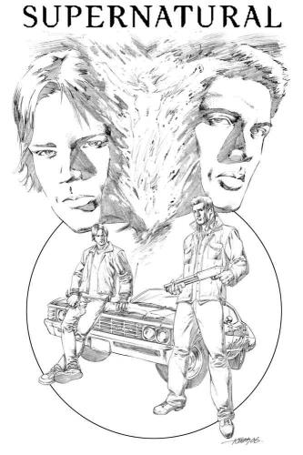 Supernatural version.thumbnail Penciled Supernatural Television