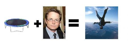 michaeljtrampoline.thumbnail Michael J Fox + X = ? Dark Humor