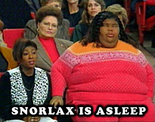 The most popular result for Snorlax image searches. Truly tasteless... Snorlax isn't nearly that ugly.