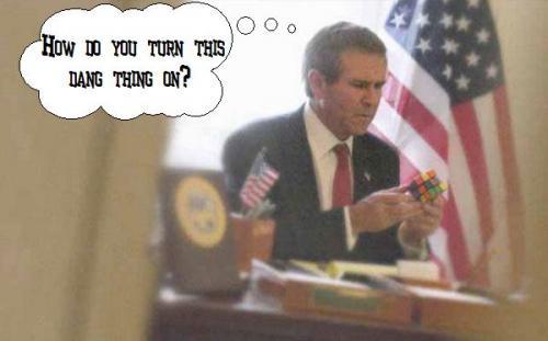 bush.thumbnail Bush vs. The Cube Politics Military Humor 9 11