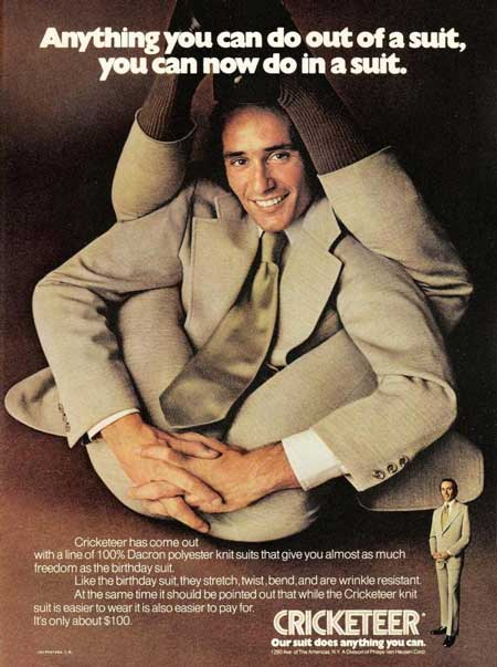 3065 polyester knit suits make you a contortionist Advertisements