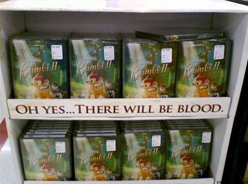 bambi 500x372 Oh yes... there will be blood Dark Humor
