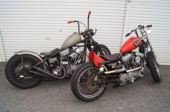 296216 191871070884061 10 700x463 Pair of Bobbers motorcycles