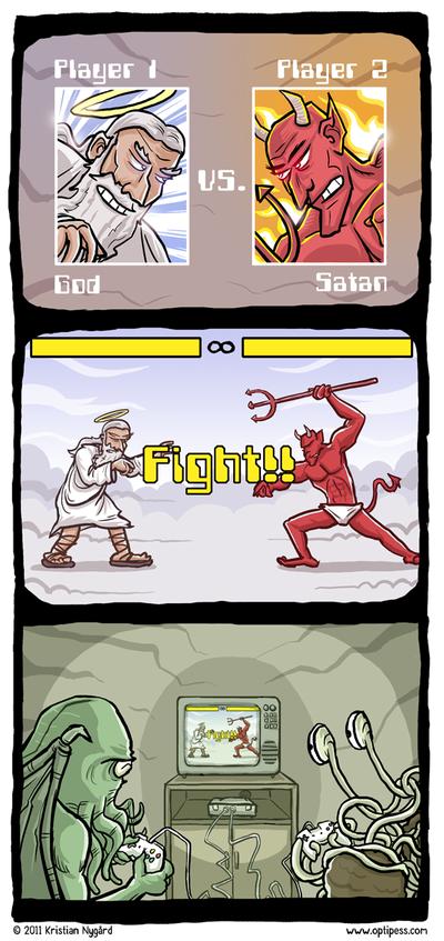4949 9d60 400 god vs. satan Religion Humor Gaming