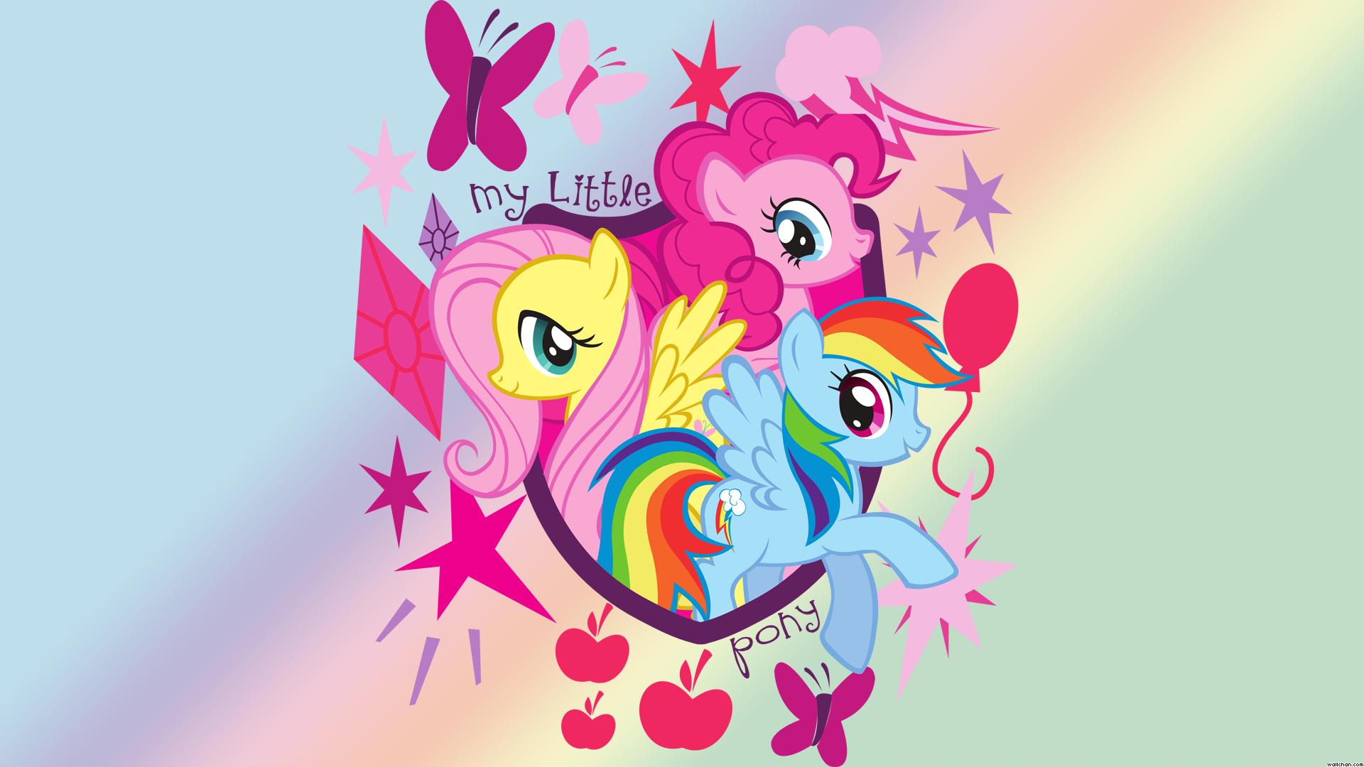 Rainboooow 24205 my little pony pinkie pie rainbow dash flutter shy