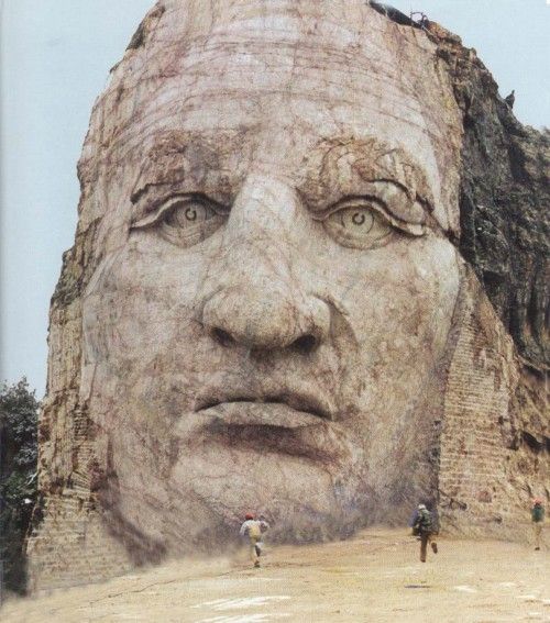 crazyhorsefacel 500x567 Crazy Horse Face Racist Art