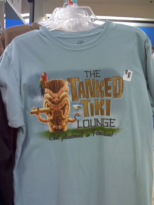 TikiShirt 500x666 The Tank Tiki Lounge T Shirt   Get Plastered In Paradise! Tiki