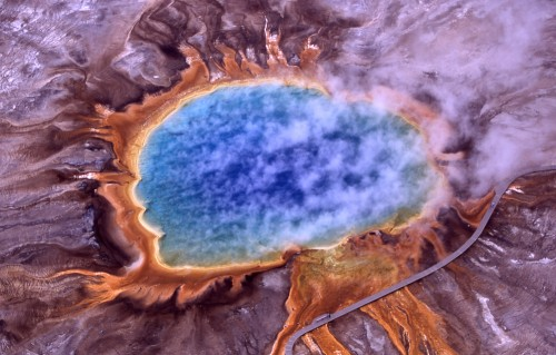 Grand prismatic spring 500x319 Grand prismatic spring Wallpaper Science! Nature
