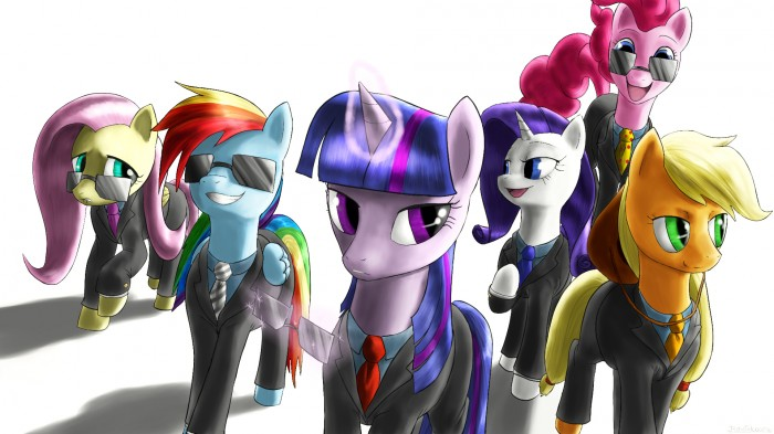 the mane 6  suited and suave by rautakoura d4jrdlt 700x393 ponny business