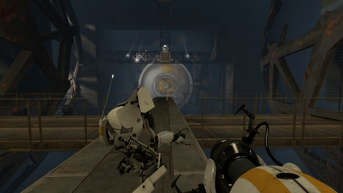 2011 08 26 00008 700x393 Portal 2: Co Op Game Wallpaper portal Gaming