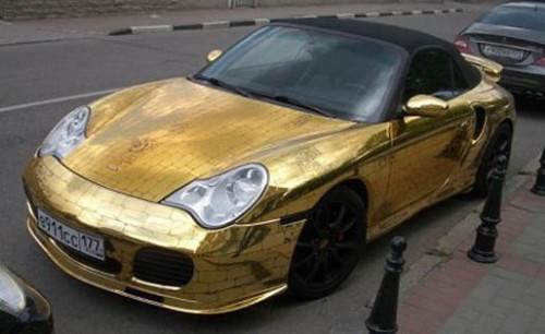 GoldPorsche1 500x306 Gold Porsche Cars