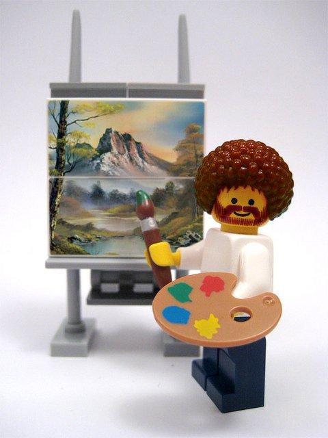 tumblr lxib75DtRR1qgef70o1 500 Bob Ross Lego lego bob ross Art