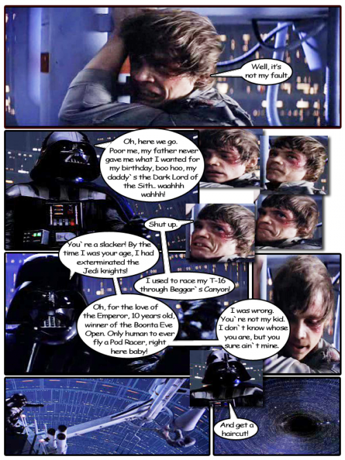 TEsb002 500x666 Darth Vader mocks Luke Television Movies Humor Fantasy   Science Fiction