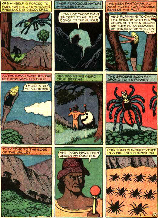 Fant002 Giant ravenous killer spiders with horrible, horrible human hands wtf Comic Books