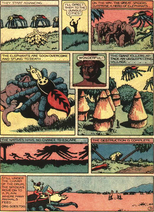 Fant003 Giant ravenous killer spiders with horrible, horrible human hands wtf Comic Books