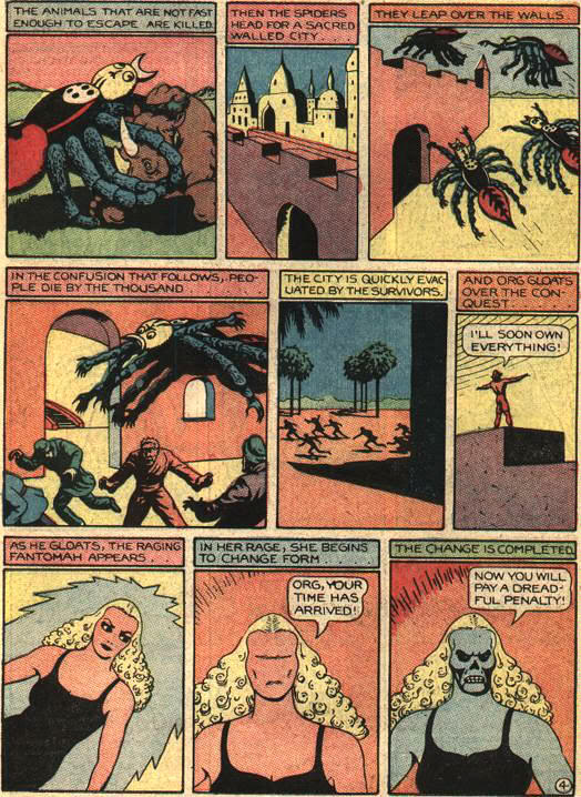 Fant004 Giant ravenous killer spiders with horrible, horrible human hands wtf Comic Books