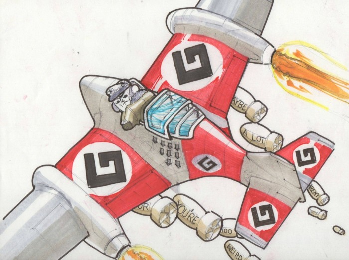 GrammarNaziBomber 700x521 GRAMMER NAZI BOMBER Wallpaper Humor Grammar Nazi
