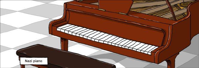 WM strip DK 20120222 nazi piano Racist nazi Music Humor