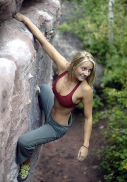 hotclimber Blonde climber