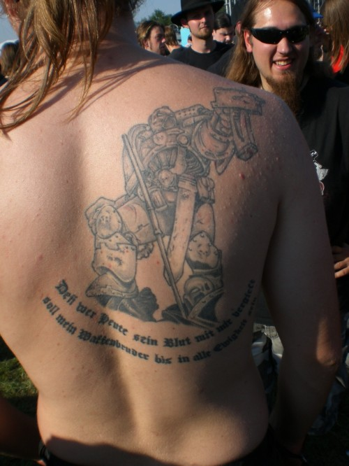 Space Marine Tattoo - August 16, 2008 added by Goldfinger | Images