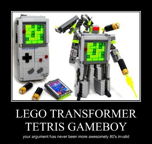 Lego Transformer Gameboy